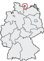 Lage der Stadt Fehmarn auf der Deutschlandkarte