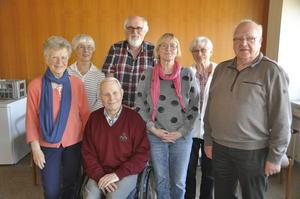 Namen der Vorstandsmitglieder (von links nach rechts):  Ulrike Krüger, Angelika Seiler, Günther Brocks, Uwe Epperlein, Metta Logemann, Margund Scheel und Manfred Harlander.